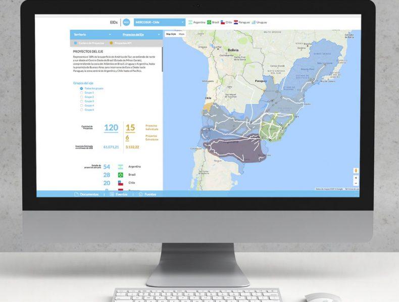 Web Application:  Integration and Development Hubs  | IDB – IIRSA