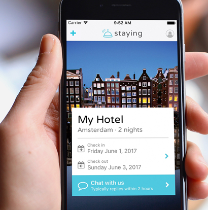 Staying App | Communication between accommodations and guests